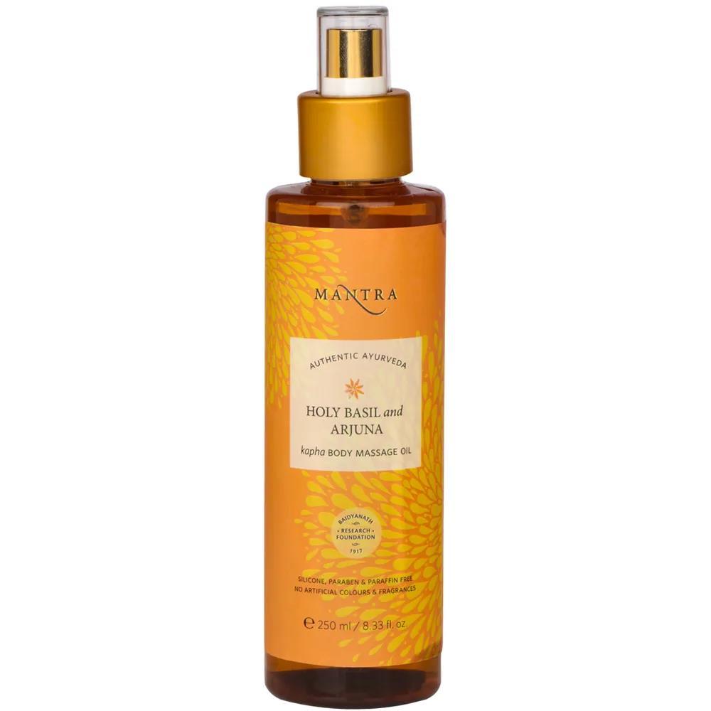 Mantra Herbal Holy Basil And Arjuna Kafa Body Massage Oil (250ml)