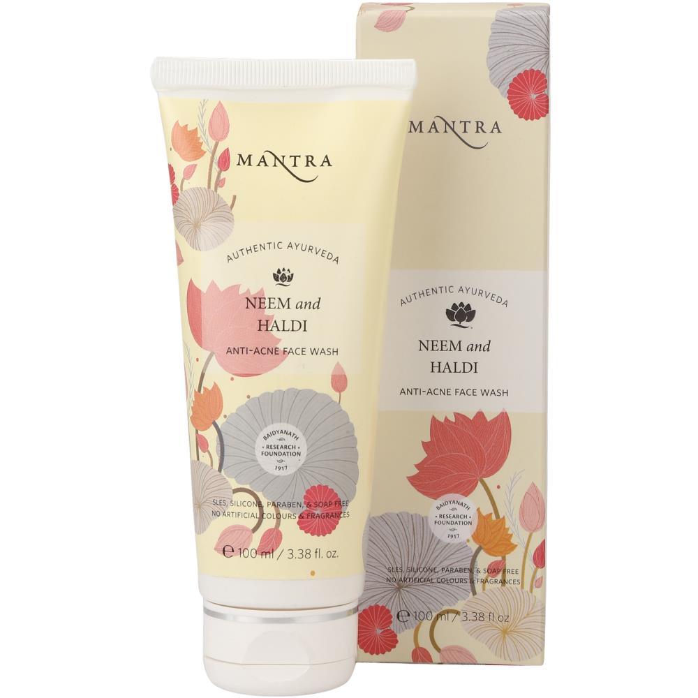 Mantra Herbal Neem & Haldi Anti Acne Face Wash (100ml)