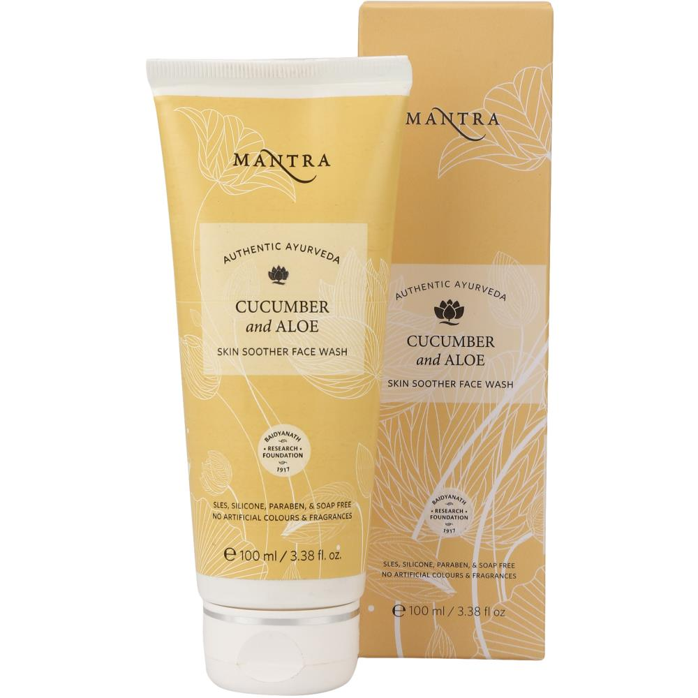 Mantra Herbal Cucumber & Aloe Skin Soother Face Wash (100ml)