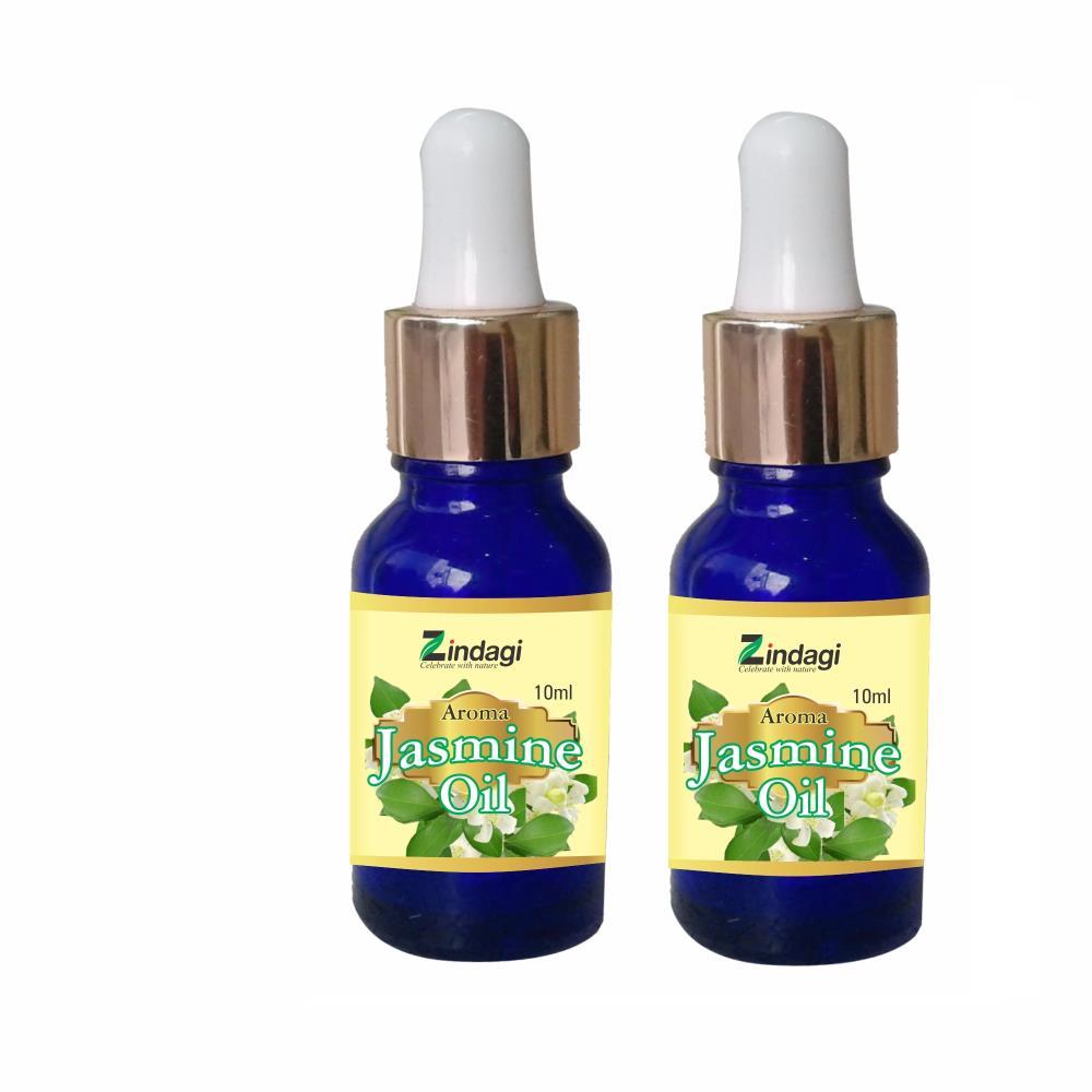 Zindagi Jasmine Oil - Natural Aroma Oils (10ml, Pack of 2)