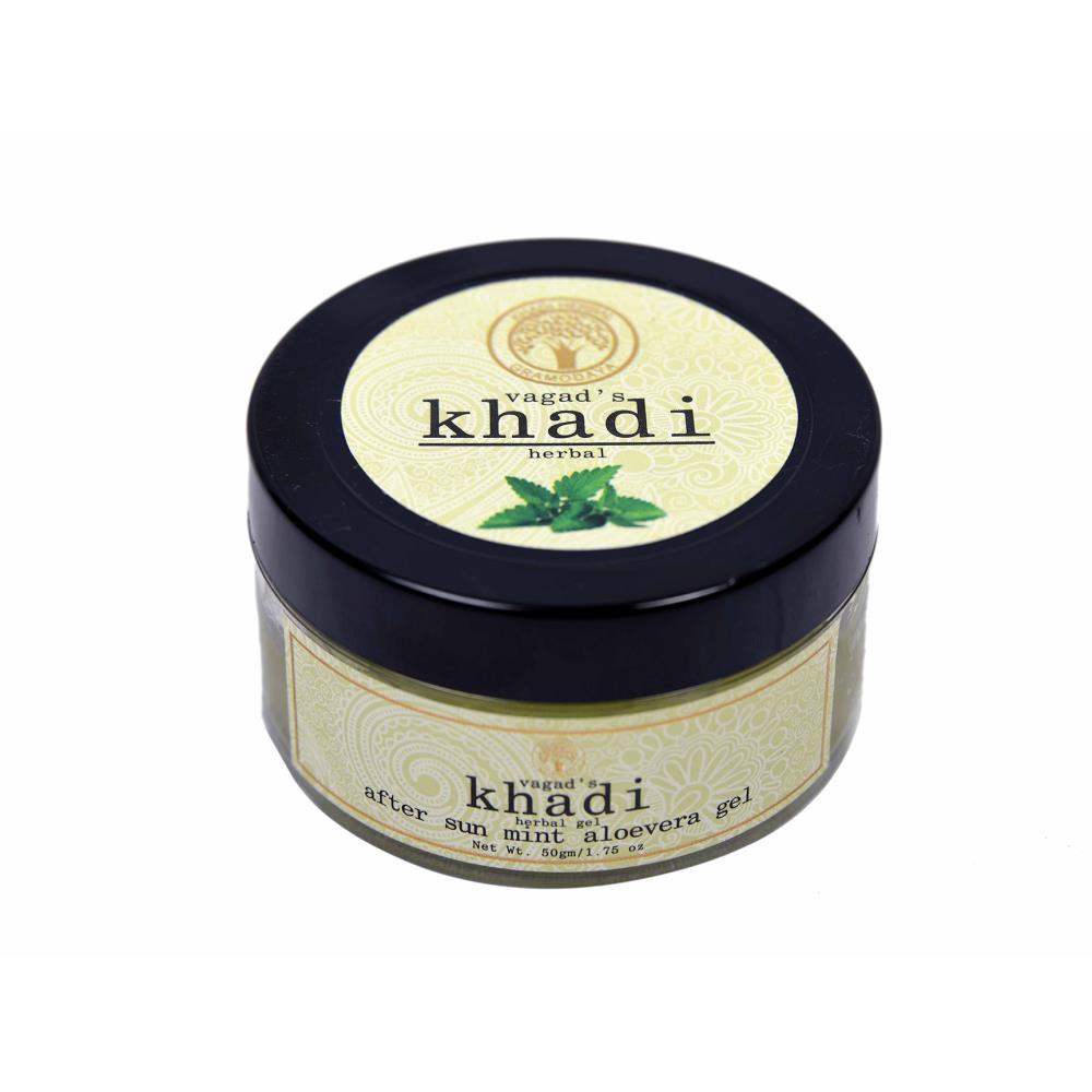 Vagads Khadi After Sun Mint Aloevera Gel (50g)