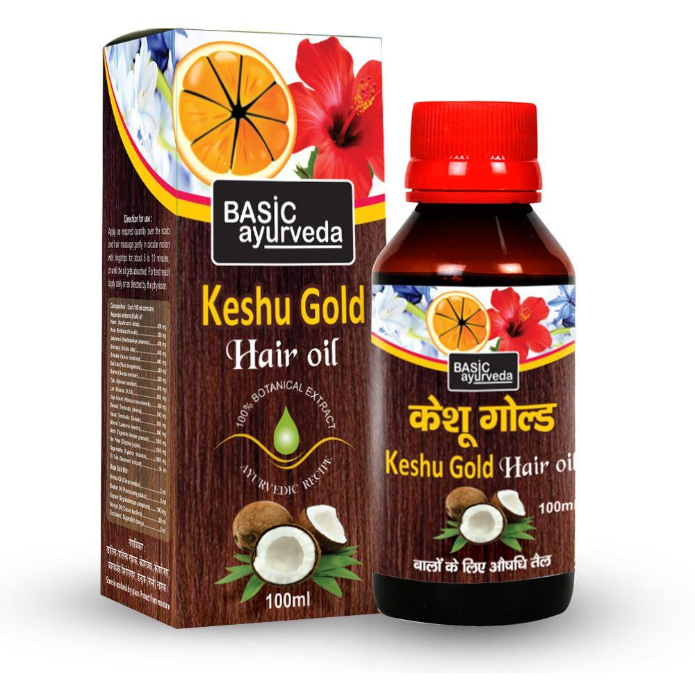 Basic Ayurveda Keshu Gold Hair Oil (100ml)