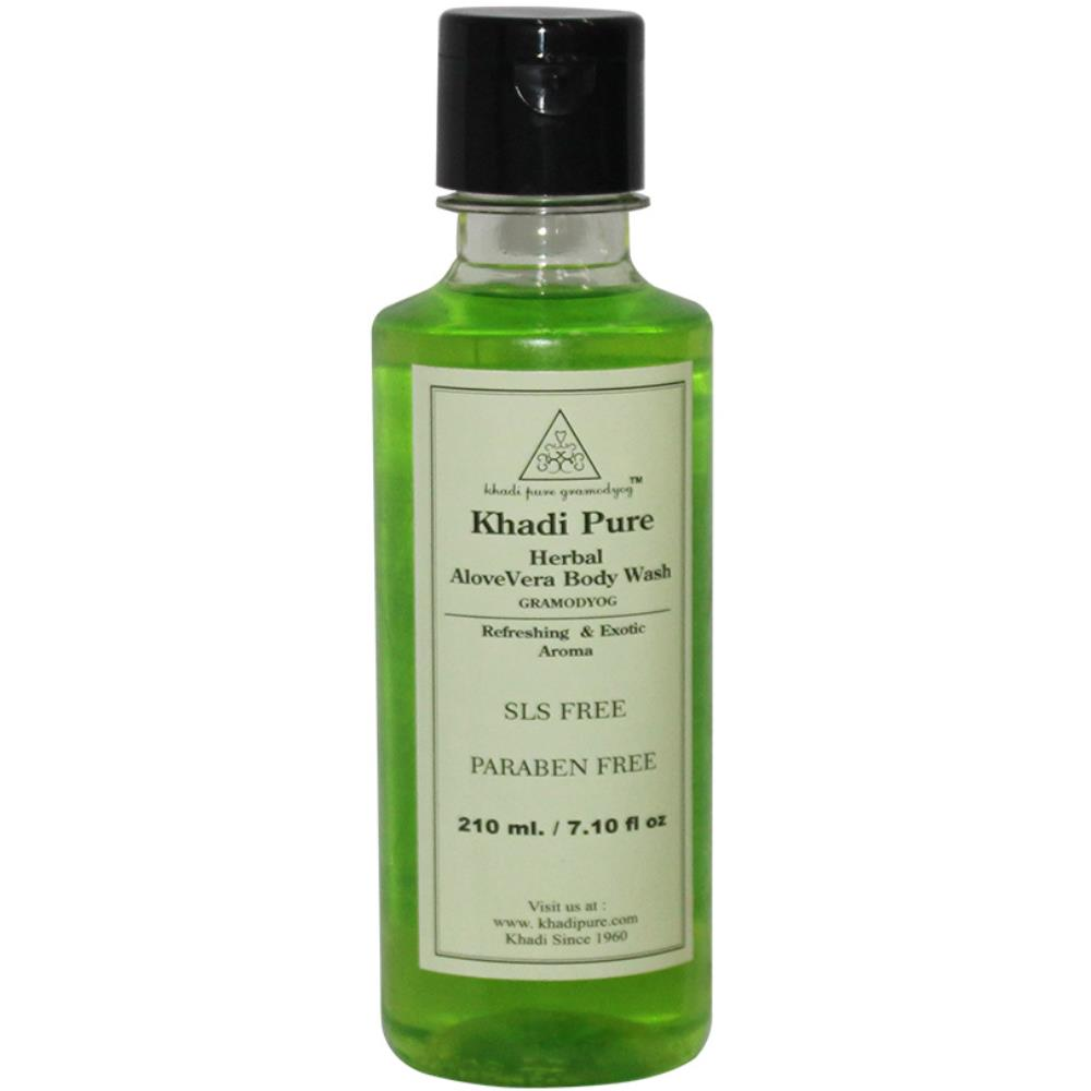 Khadi Pure Aloevera Body Wash Sls-Paraben Free (210ml)