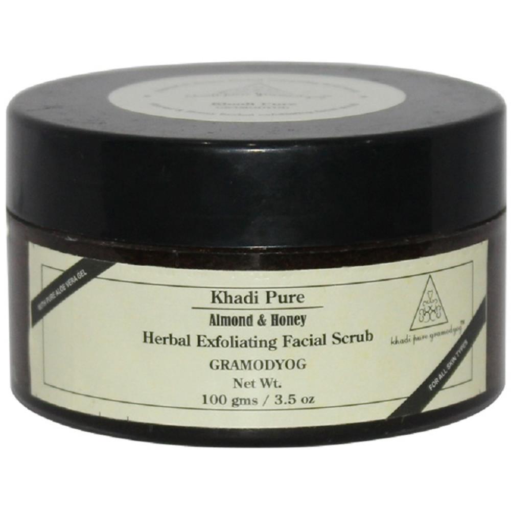 Khadi Pure Almond & Honey Exfoliating Facial Scrub (100g)