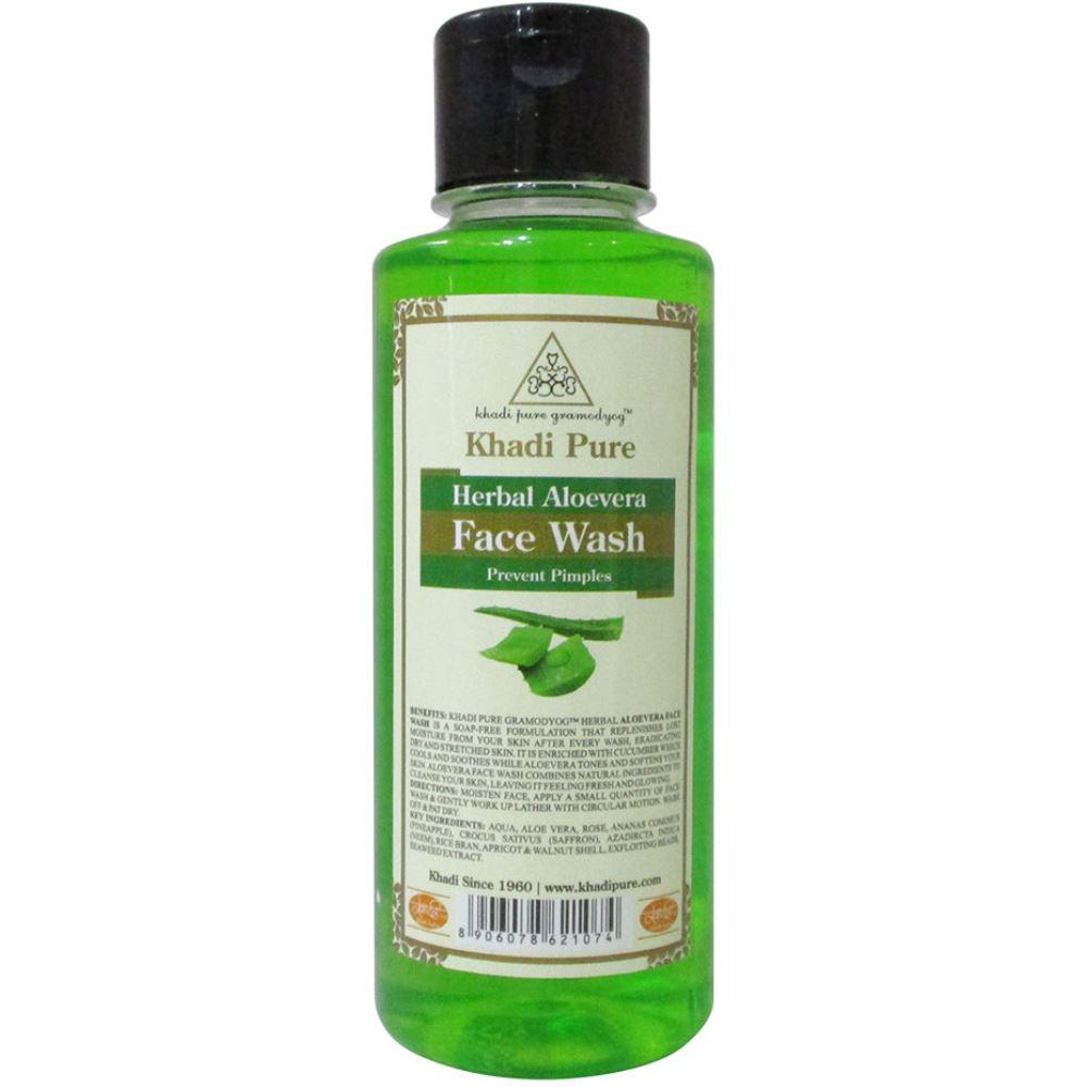 Khadi Pure Aloevera Face Wash (210ml)