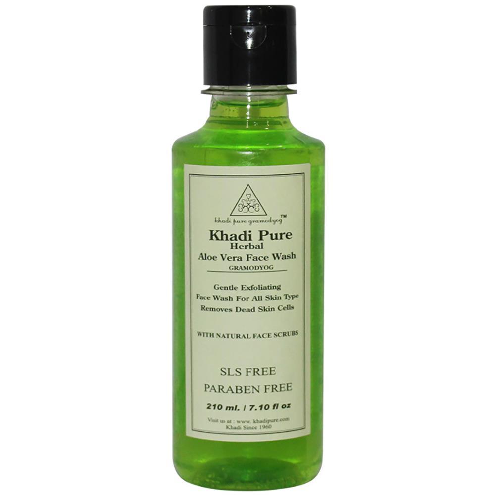Khadi Pure Aloevera Face Wash Sls-Paraben Free (210ml)