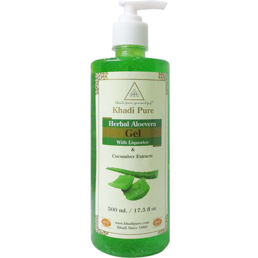 Khadi Pure Aloevera Gel With Liquorice & Cucumber Extracts (500g)
