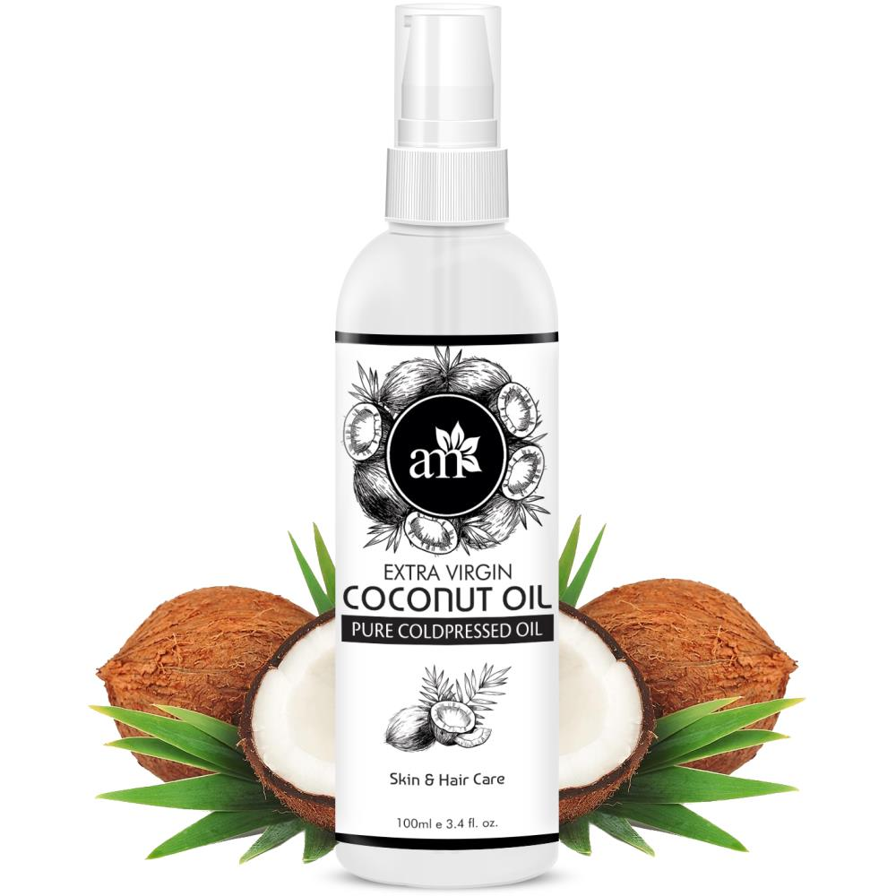 AromaMusk Organic 100% Pure Cold Pressed Extra Virgin Coconut Oil For Hair And Skin (100ml)