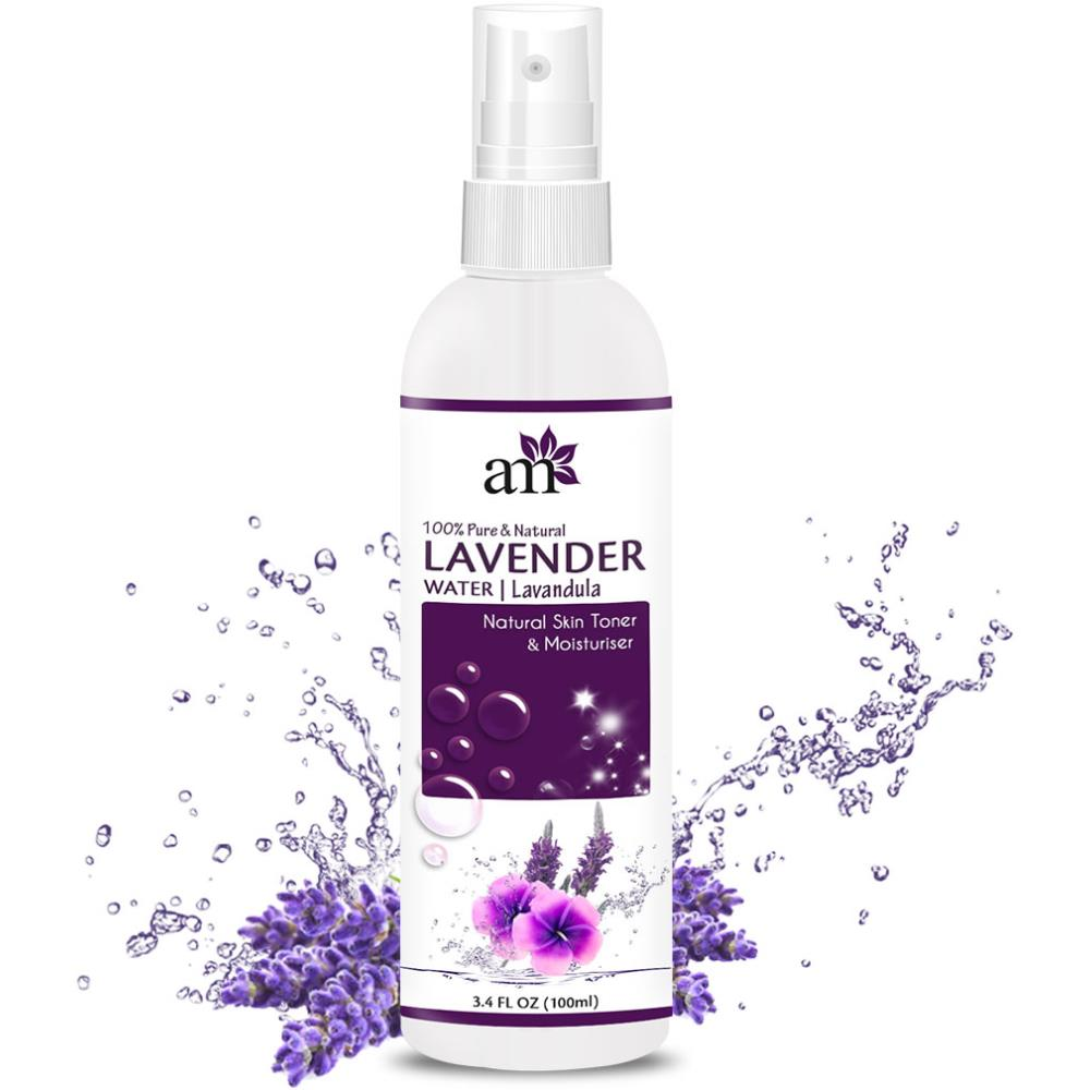 AromaMusk 100% Pure & Natural Premium French Lavender Water Toner For Skin, Hair & Face (No Alcohol, Chemical & Paraben Free ) (100ml)