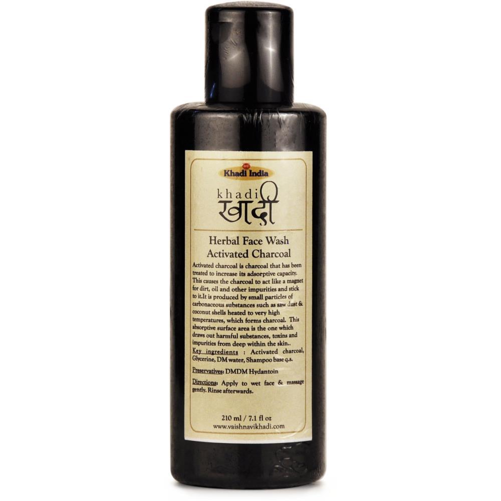 Khadi Activated Charcoal Face Wash (210ml)