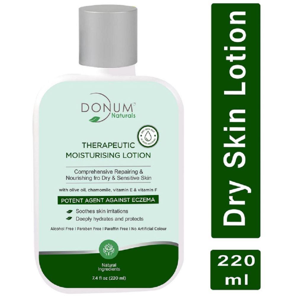 Donum Naturals Therapeutic Moisturising Lotion With Olive Oil Chamomile Vitamin E & Vitamin F (220ml)