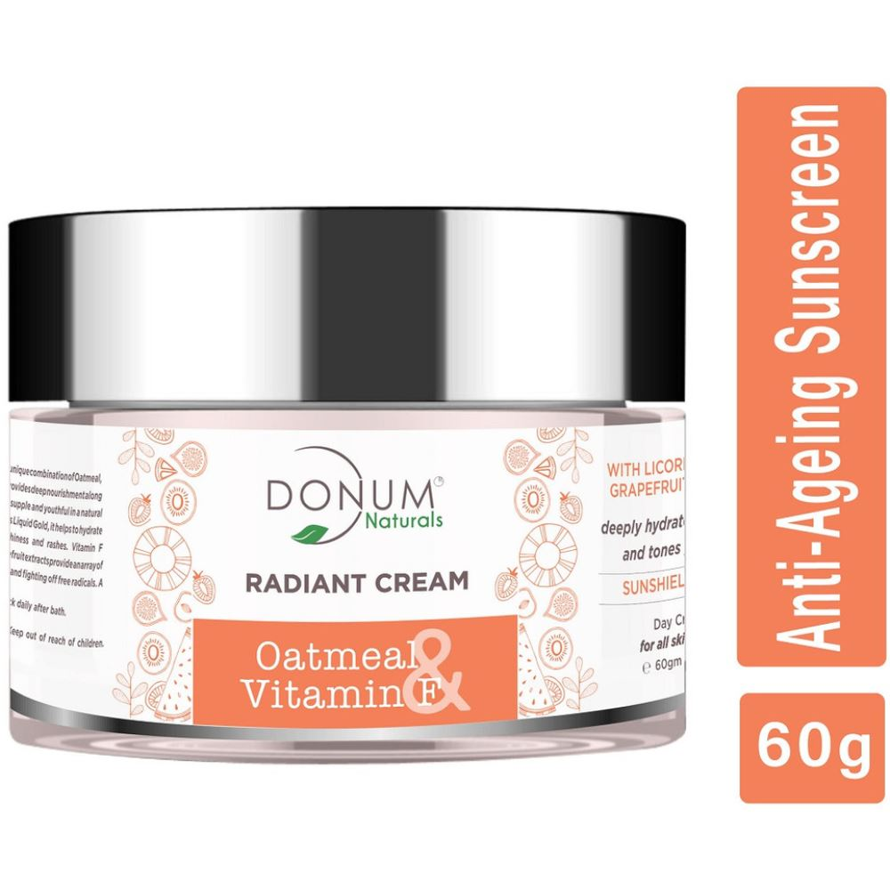 Donum Naturals 5 In 1 Anti-Ageing Radiant Day Cream With Vitamin F & Spf 15 (60g)