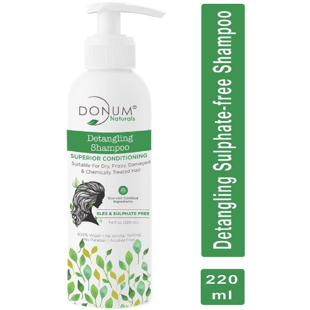 Donum Naturals Sulphate-Free 2 In 1 Conditioning Detangling Shampoo Eco-Cert Certified (220ml)