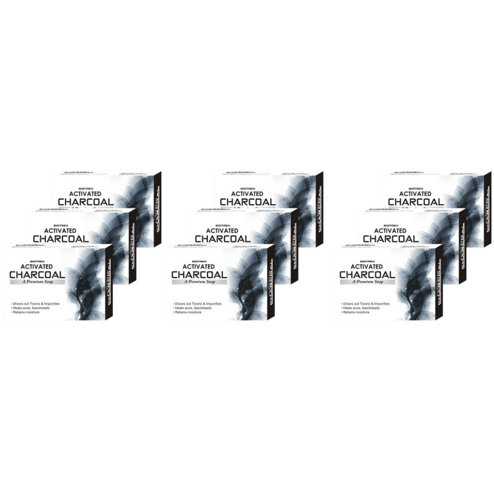 Biotrex Activated Charcoal A Premium Soap (75g, Pack of 9)