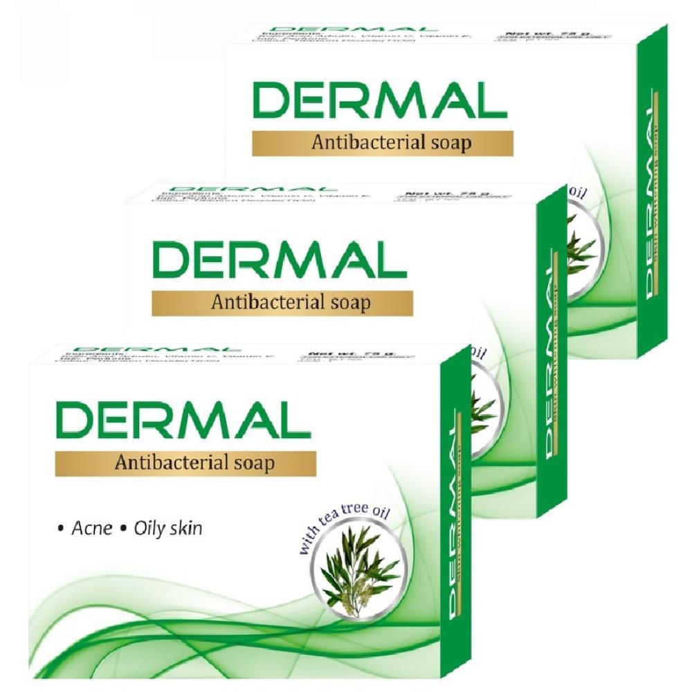Biotrex Dermal Antibacterial Bath Soap (75g, Pack of 3)