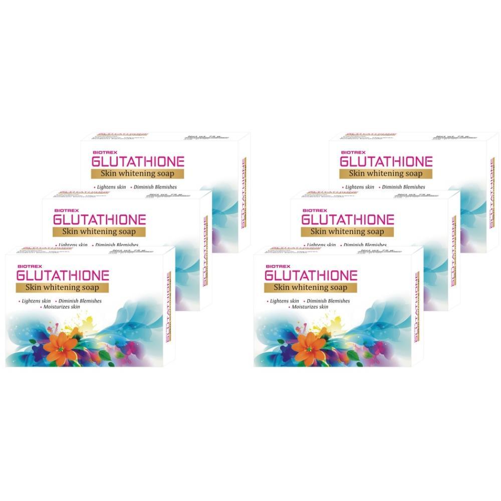 Biotrex Glutathione Skin Whitening Soap (75g, Pack of 6)