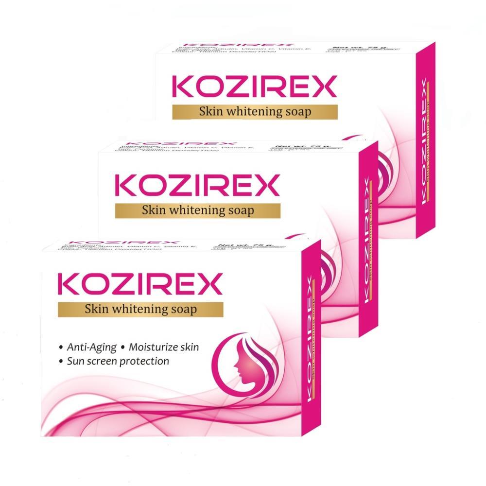 Biotrex Kozirex Skin Whitening Soap (75g, Pack of 3)