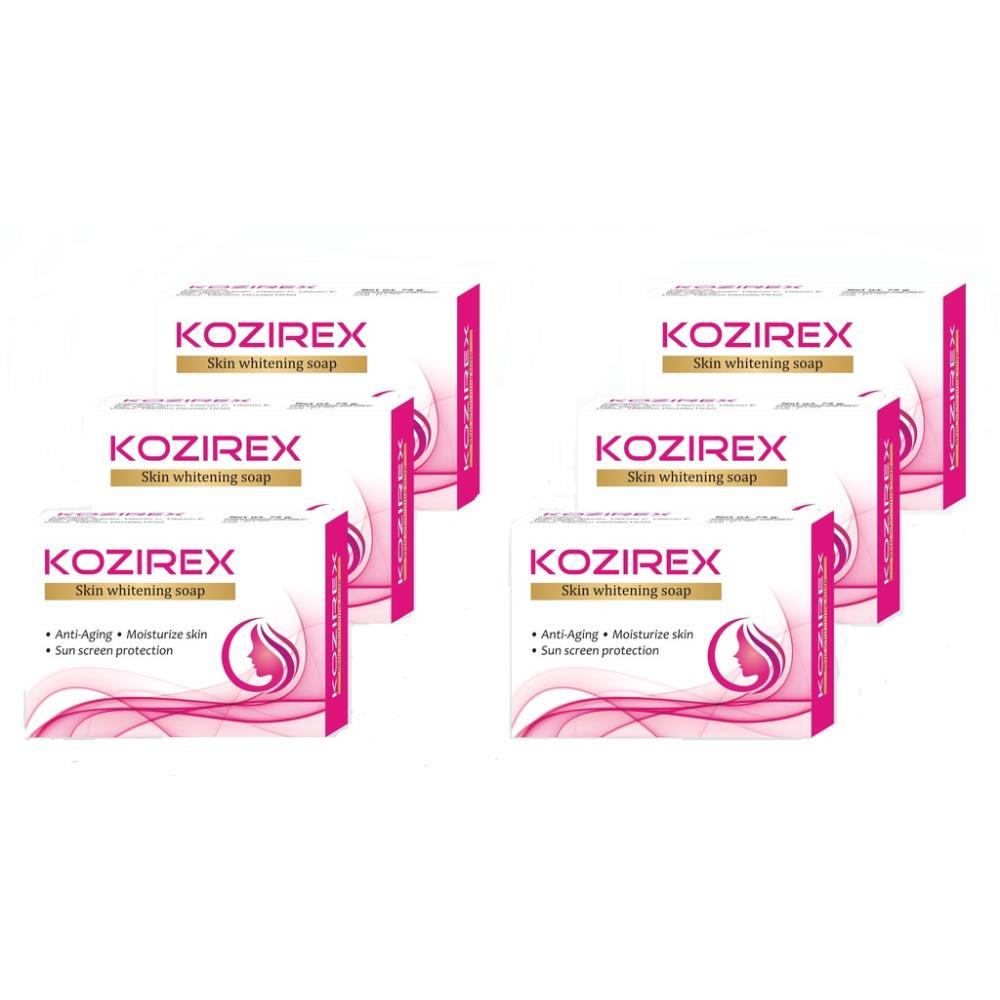 Biotrex Kozirex Skin Whitening Soap (75g, Pack of 6)