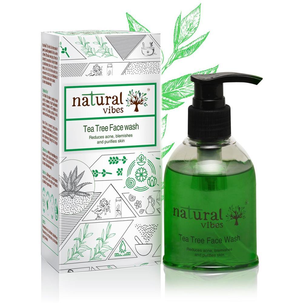 Natural Vibes Ayurvedic Tea Tree Face Wash (150ml)