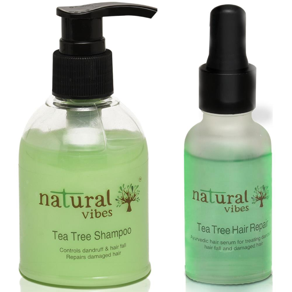 Natural Vibes Ayurvedic Tea Tree Face Wash And Shampoo Everyday Treatment (1Pack)