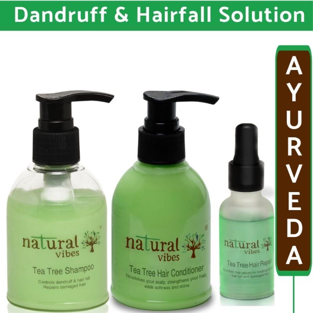 Natural Vibes Ayurvedic Tea Tree Hair Care Regime (1Pack)