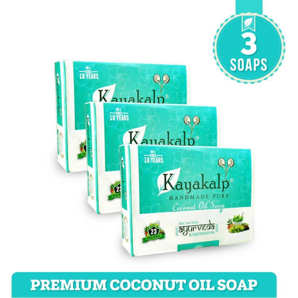 Kayakalp Premium Herbal Coconut Soap (125g)