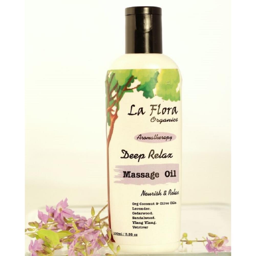 La Flora Organics Deep Relax Aromatherapy Body Massage Oil (100ml)