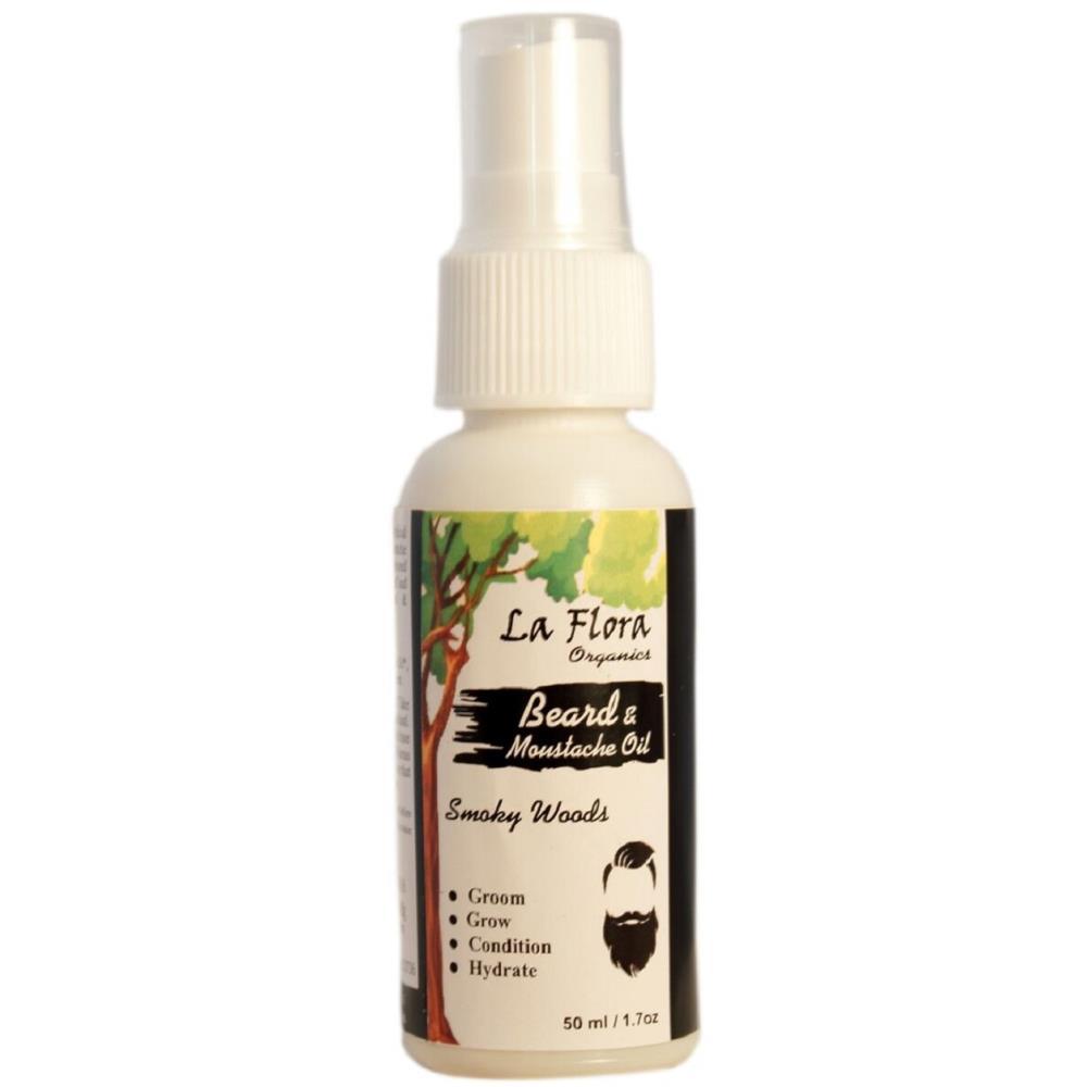 La Flora Organics Beard & Moustache Smoky Woods Oil (50ml)