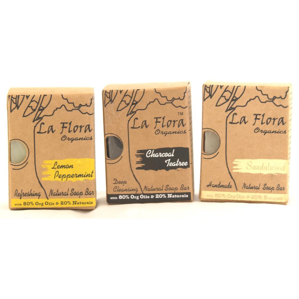 La Flora Organics Flora Man Special Handmade Soap Combo For Men (1Pack)