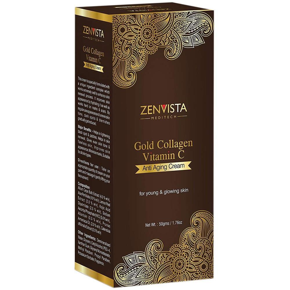 Zenvista Meditech Gold Collagen & Vitamin C Anti Ageing Cream (50g)