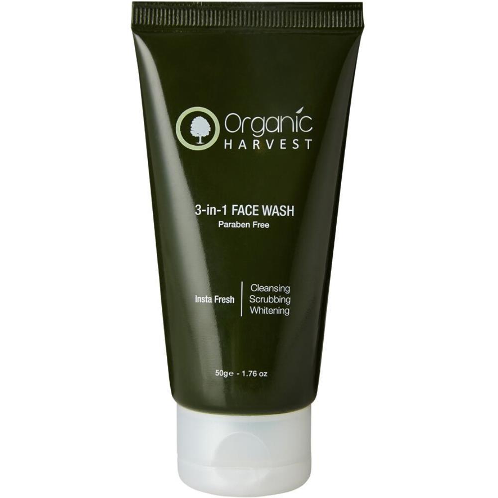 Organic Harvest 3-In-1 Face Wash (Paraben Free) (50g)