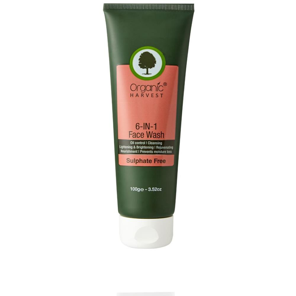 Organic Harvest 6 In 1 Face Wash (Sulphate Free) (100ml)