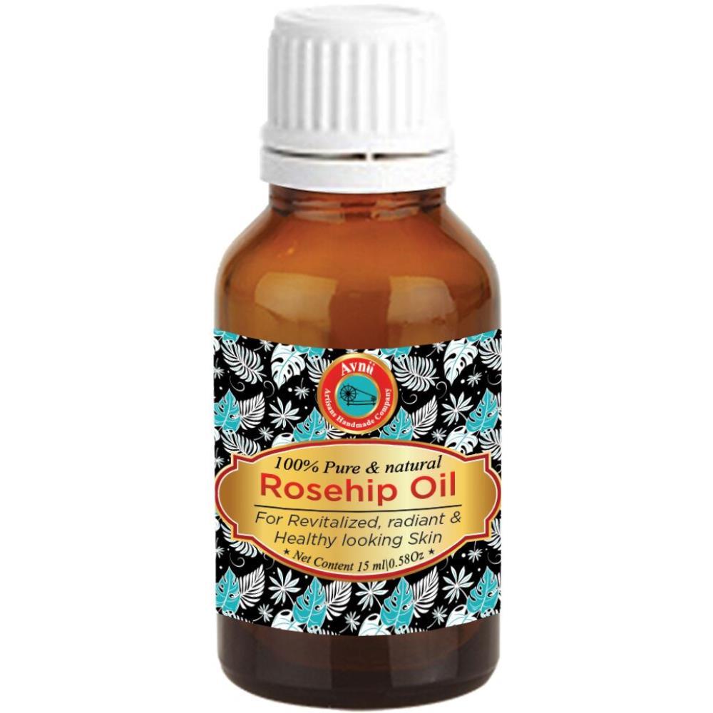 Avnii Organics 100% Pure & Natural Rosehip Oil (15ml)