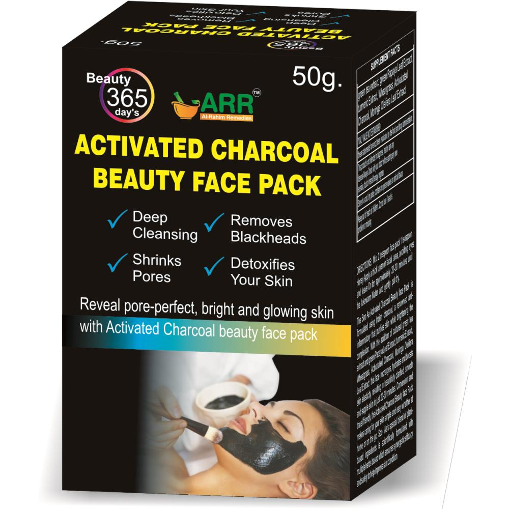Al Rahim Activated Charcoal Beauty Face Pack (50ml)