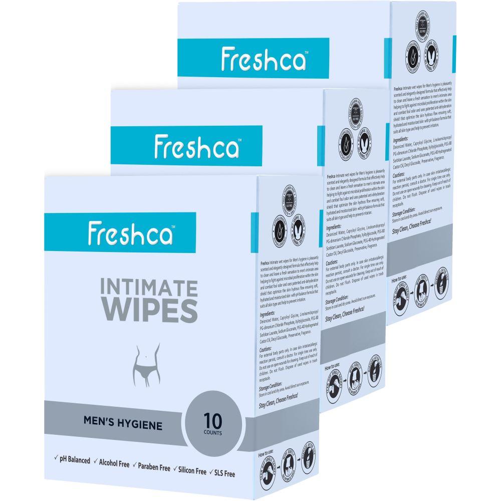 Freshca Intimate Men's Wet Wipes (30pcs)