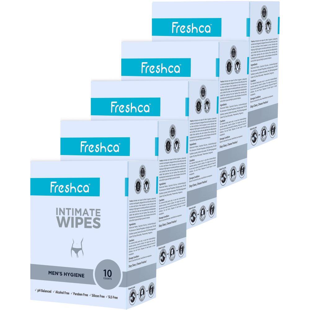 Freshca Intimate Men's Wet Wipes (50pcs)