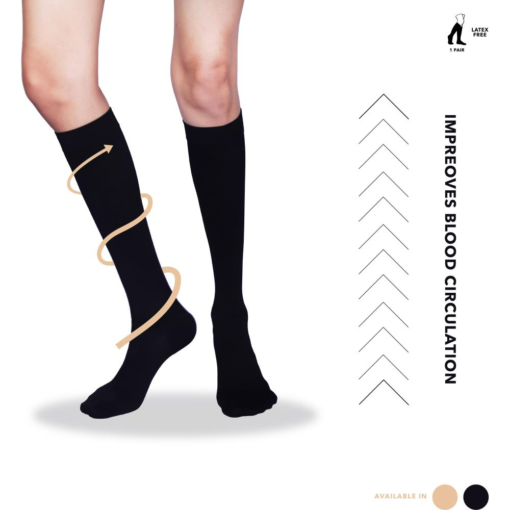 Sorgen Maternity Support Socks (Black) (S)