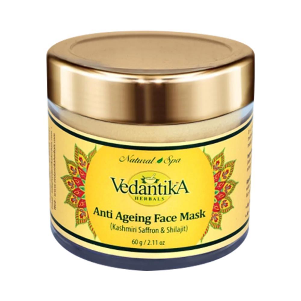 Vedantika Herbals Anti Ageing Face Mask with Saffron & Shilajit (60g)