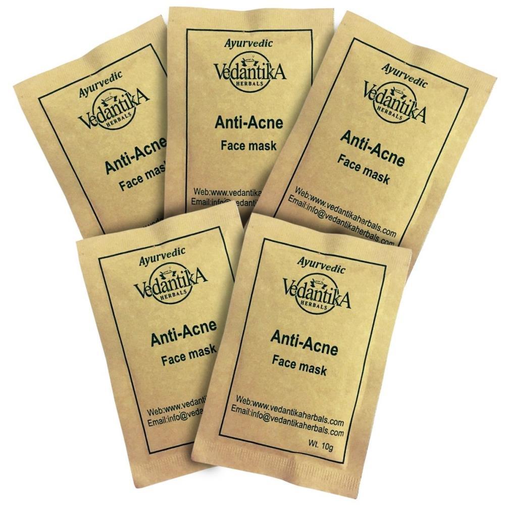 Vedantika Herbals Anti Acne Trial Pack (10g, Pack of 5)