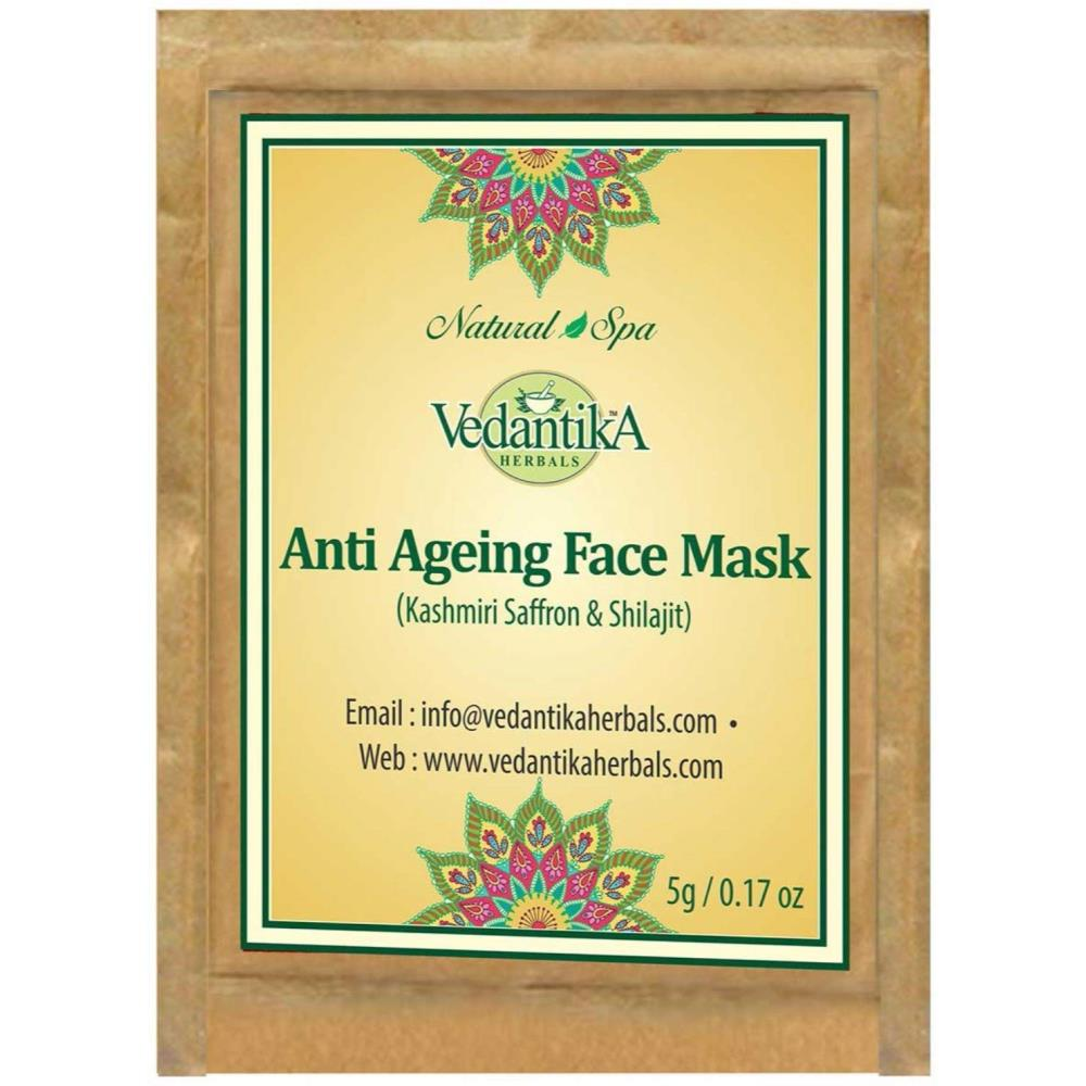 Vedantika Herbals Anti Ageing Face Mask with Saffron & Shilajit Trial Pack (5g)