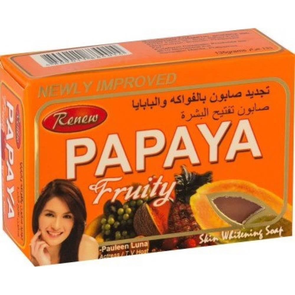Renew Papaya Fruity Skin Whitening Soap (135g)