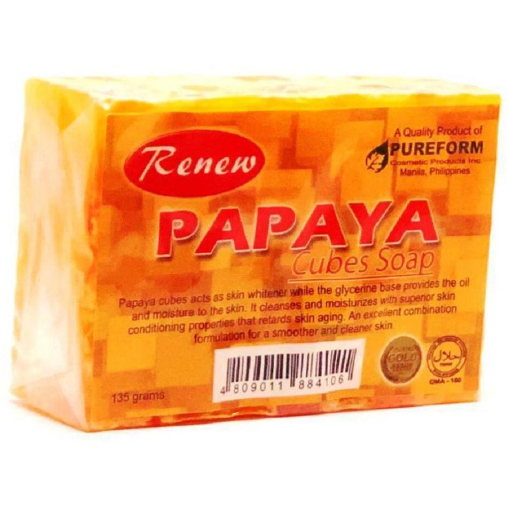Renew Papaya Cubes Soap (135g)