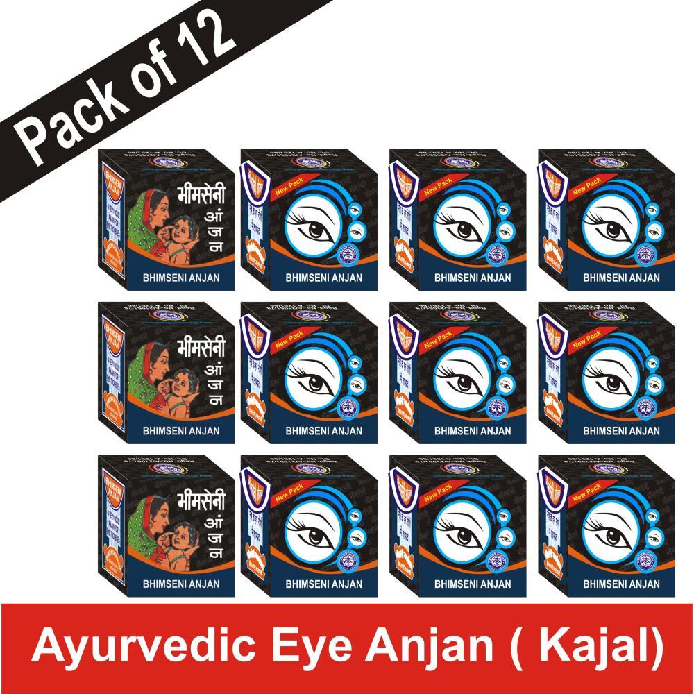 Bhimseni Anjan (350mg, Pack of 12)