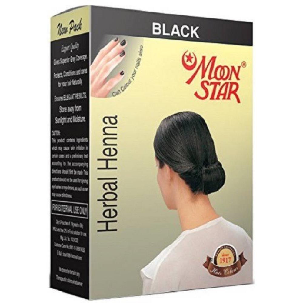 Moonstar Herbal Henna (Black) (6Sachet)