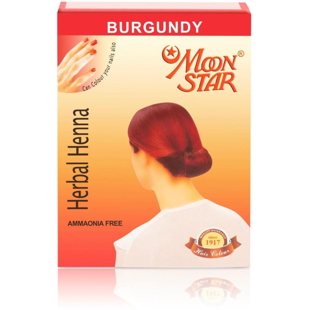 Moonstar Herbal Henna (Burgundy) (6Sachet)