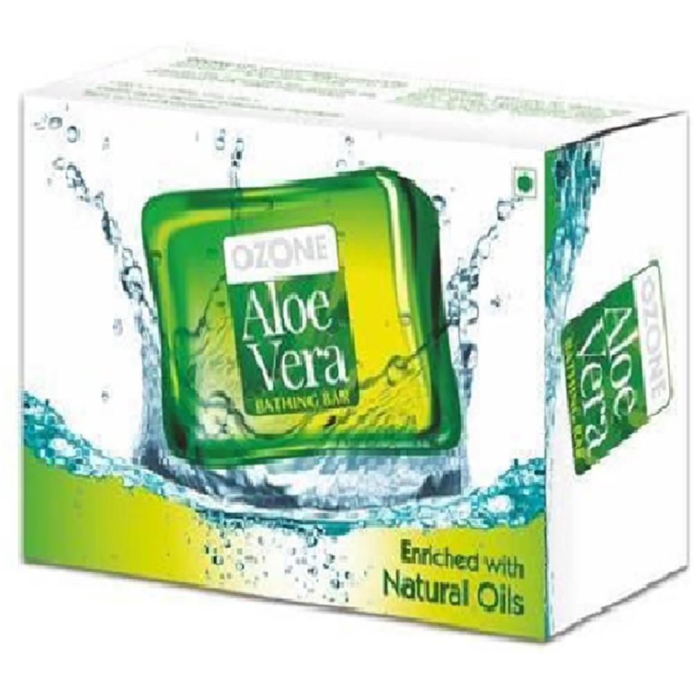 Ozone Aloe Vera Bathing Bar Soap (125g, Pack of 3)