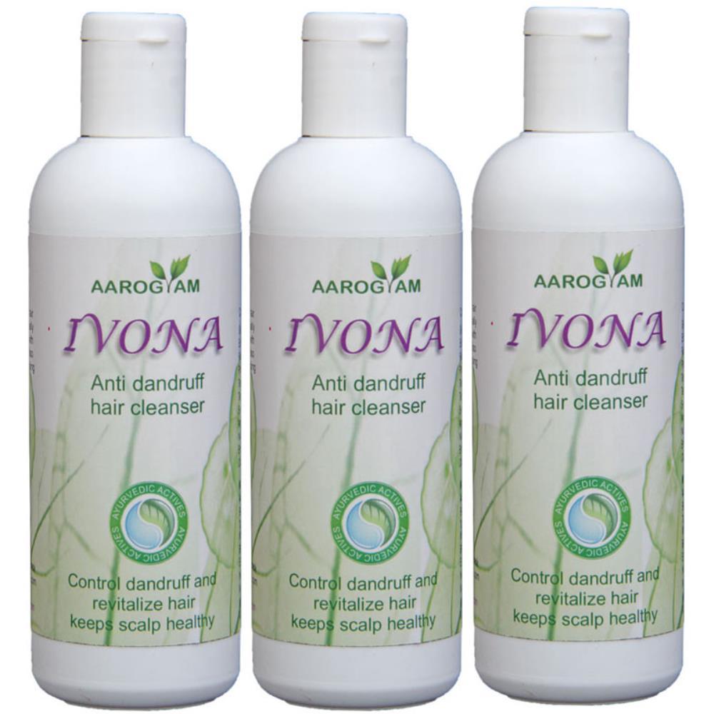 Ivona Anti Dandruff Hair Cleanser (200ml, Pack of 3)