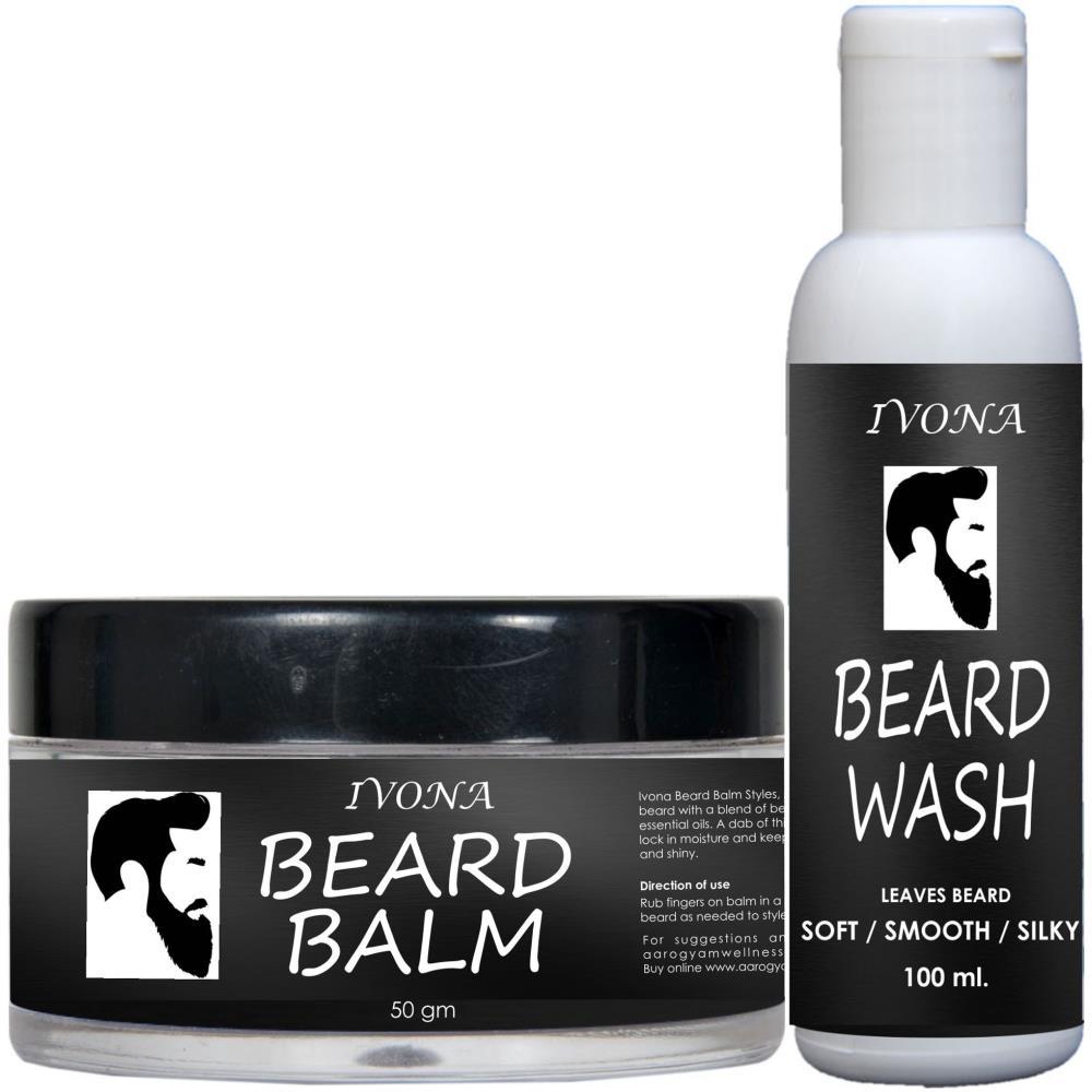 Ivona Beard Balm Oil(100 Ml) & Beard Wash(50 Gm) Combo Pack (1Pack)