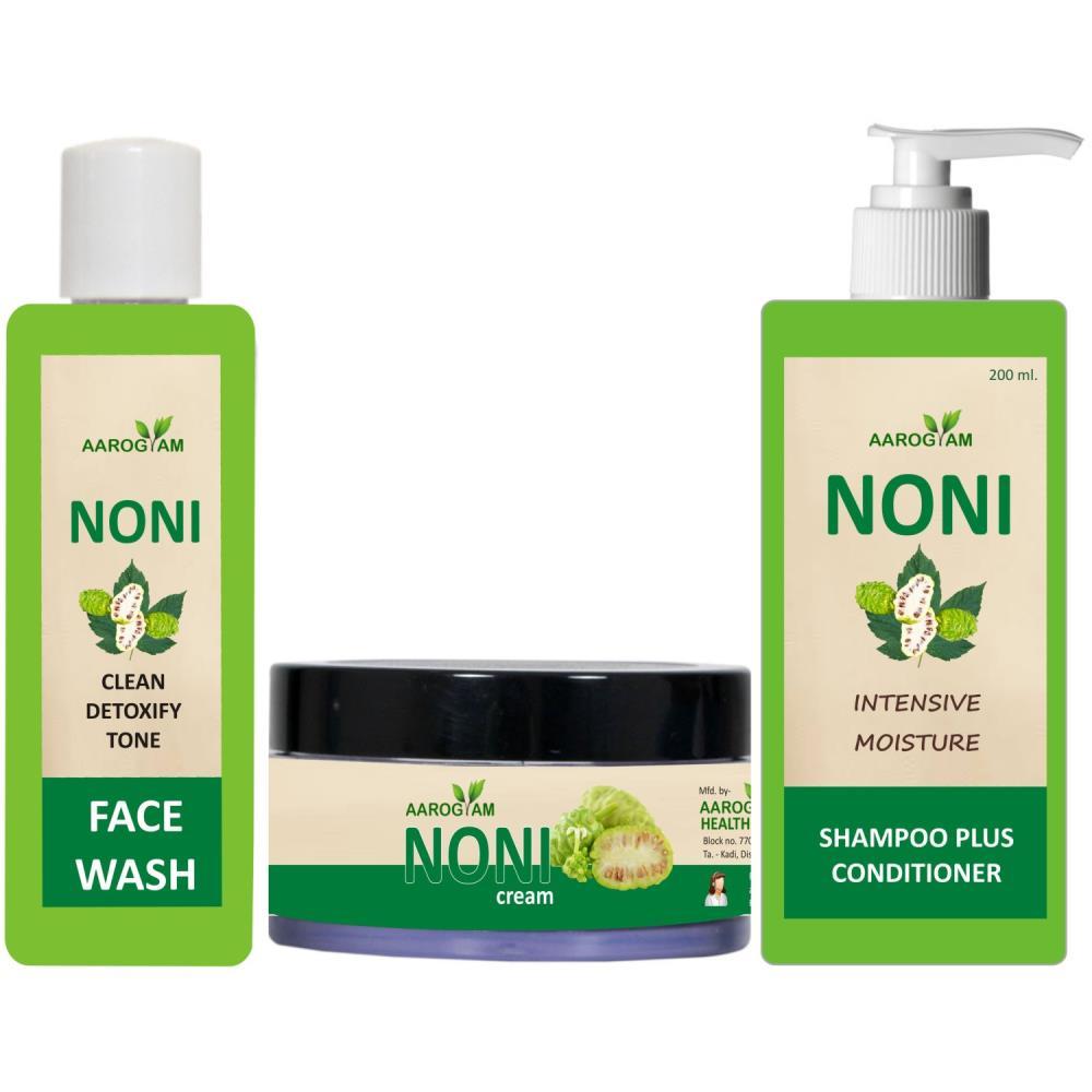 Aarogyam Noni Cream(50G)Face Wash(100Ml) & Shampoo(200Ml) Combo Pack (1Pack)