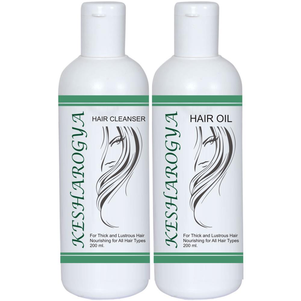 Aarogyam Kesharogya Hair Oil & Cleanser Combo Pack (200ml)